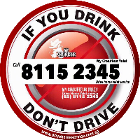 Drink Don't Drive My Chauffeur Valet Logo